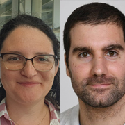 דוקטורנטים מריה מקריניץ ותמיר אדמון מבית הספר לכימיה