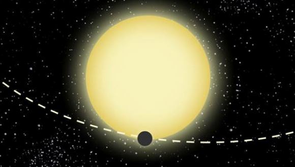 """אילוסטרציה של Kepler-76 (גרפיקה: """"dood Evan"""")"""